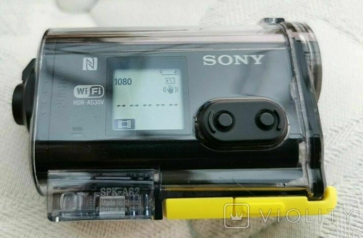 Sony HDR-AS30V WI-FI GPS камера + подводный бокс, фото №3