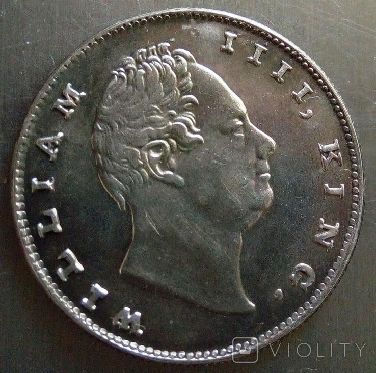 1 рупія 1835 року Індія -колонія Великої Британії, фото №2