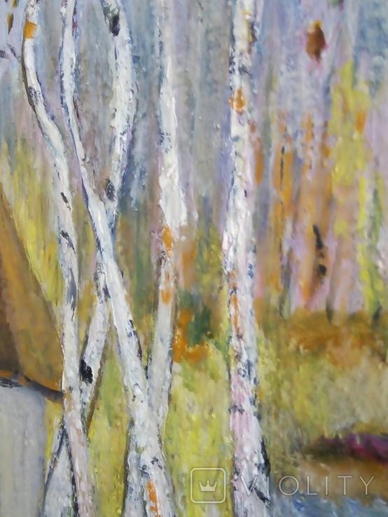 """""""Осенний перелет лебедей"""", масло, холст, фото №6"""