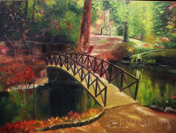 Горбатый мост и Усечённая колонна, холст, масло, 70х95 см. Алек Гросс., фото №2