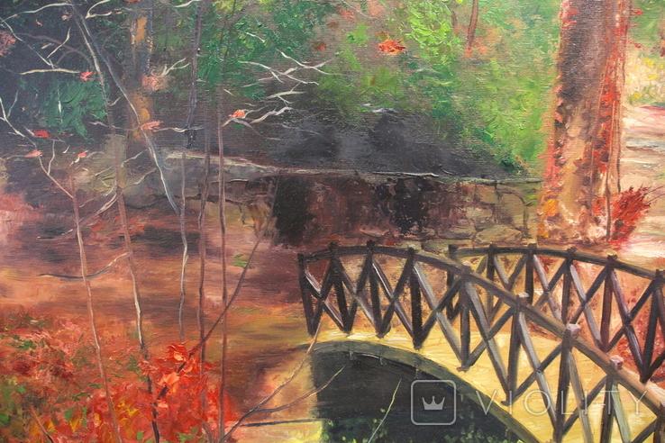 Горбатый мост и Усечённая колонна, холст, масло, 70х95 см. Алек Гросс., фото №4