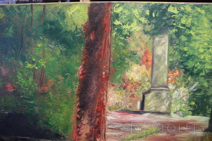 Горбатый мост и Усечённая колонна, холст, масло, 70х95 см. Алек Гросс., фото №6