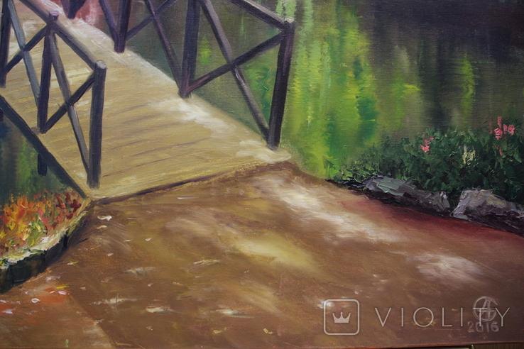 Горбатый мост и Усечённая колонна, холст, масло, 70х95 см. Алек Гросс., фото №11
