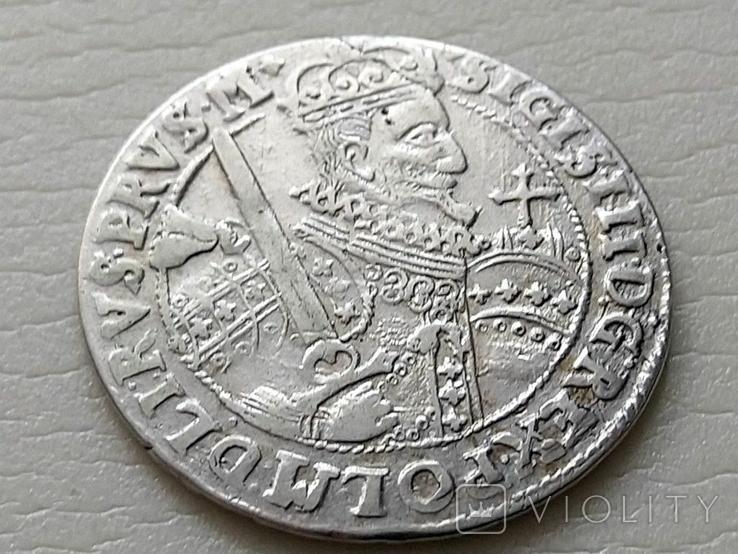 Польша. Коронный Орт Сигизмунда III. 1622 год. Быгдощ. (Ор1-15), фото №3