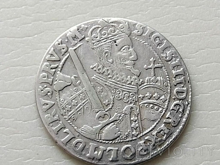 Польша. Коронный Орт Сигизмунда III. 1622 год. Быгдощ. (Ор1-15), фото №2