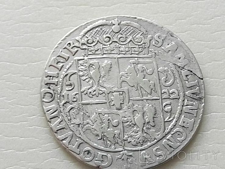 Польша. Коронный Орт Сигизмунда III. 1622 год. Быгдощ. (Ор1-15), фото №8