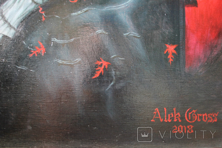 Ворон. Холст, масло. 70х50 см. Алек Гросс. Копия., фото №7