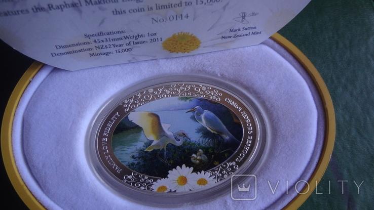 2 доллара 2011 Ниуэ Семья.Любовь.Верность серебро унция, фото №2