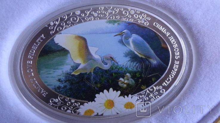 2 доллара 2011 Ниуэ Семья.Любовь.Верность серебро унция, фото №3