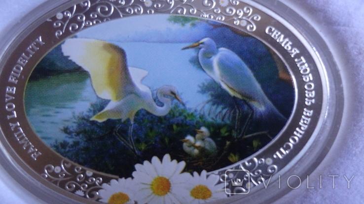 2 доллара 2011 Ниуэ Семья.Любовь.Верность серебро унция, фото №4