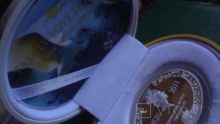 2 доллара 2011 Ниуэ Семья.Любовь.Верность серебро унция, фото №7