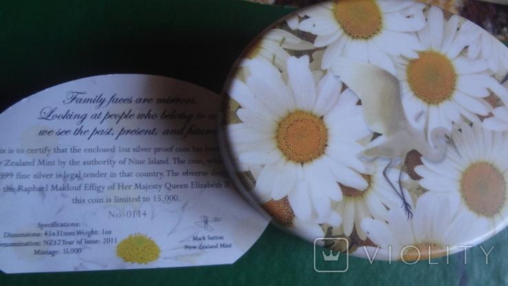 2 доллара 2011 Ниуэ Семья.Любовь.Верность серебро унция, фото №8