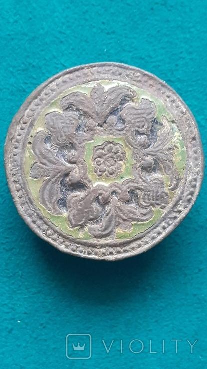 Пуговица Старинная с эмалями, фото №2