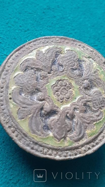 Пуговица Старинная с эмалями, фото №3
