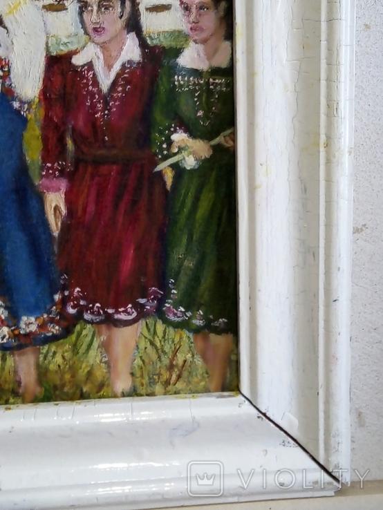 """Жанровая картина маслом""""Домой"""", 57*40см,стиль соцреализм, фото №5"""