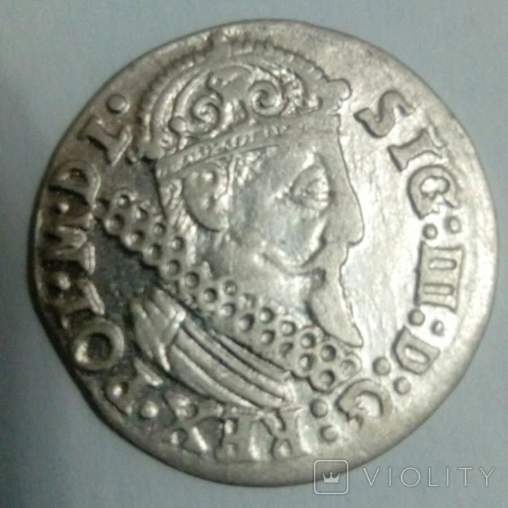 Трояк 1624 г. Сигизмунд III, фото №3