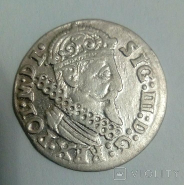 Трояк 1624 г. Сигизмунд III, фото №4