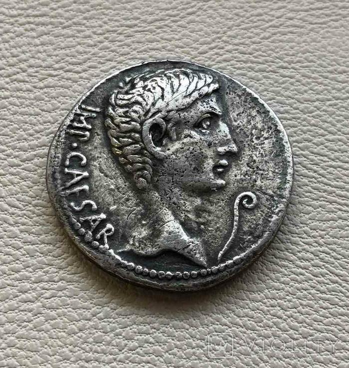Римская Империя Август денарий, фото №2