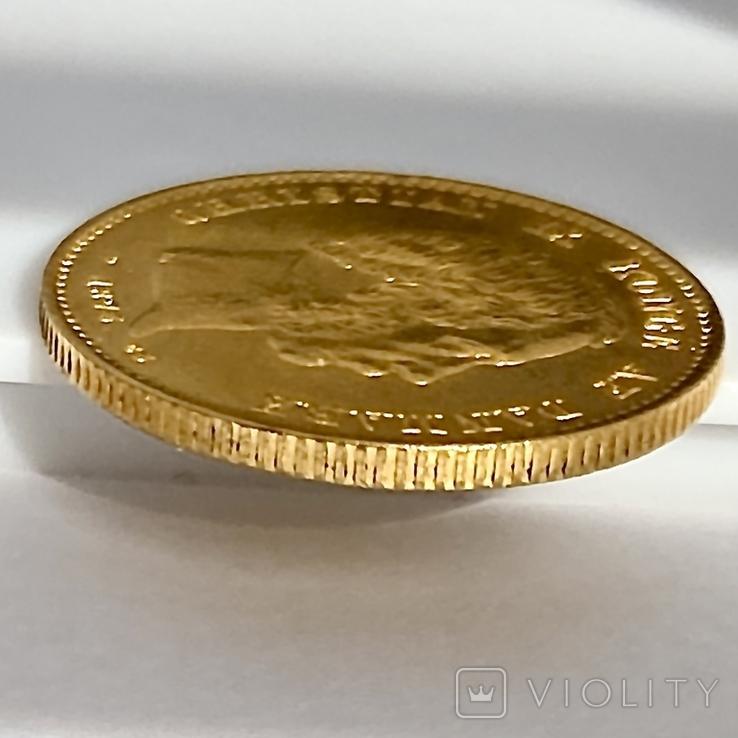 20 крон. 1873. Кристиан IX. Дания (золото 900, вес 8,97 г), фото №7
