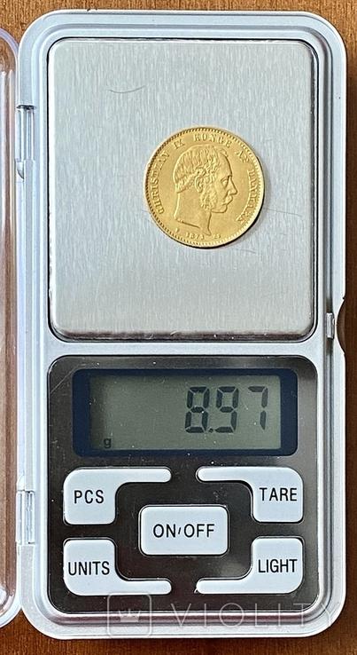 20 крон. 1873. Кристиан IX. Дания (золото 900, вес 8,97 г), фото №10