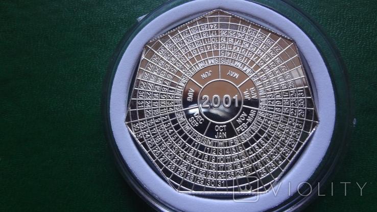 4000 квача 2000 Замбия Календарь серебро 999, фото №2
