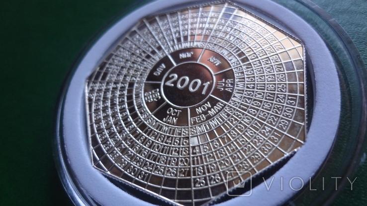 4000 квача 2000 Замбия Календарь серебро 999, фото №5