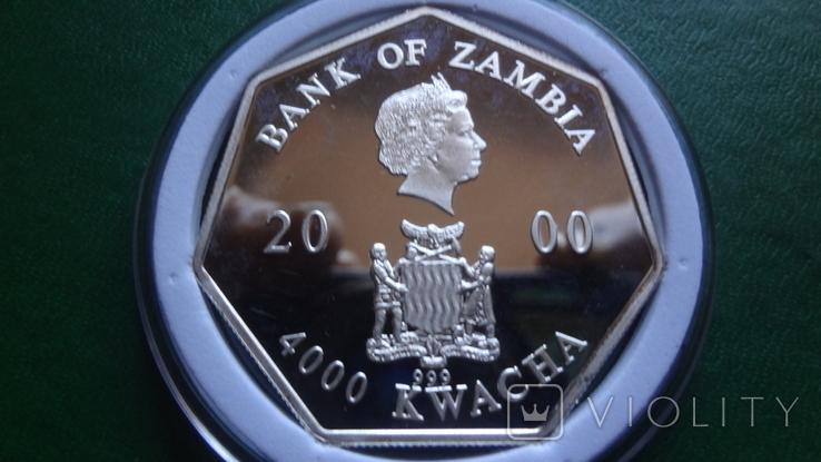4000 квача 2000 Замбия Календарь серебро 999, фото №6
