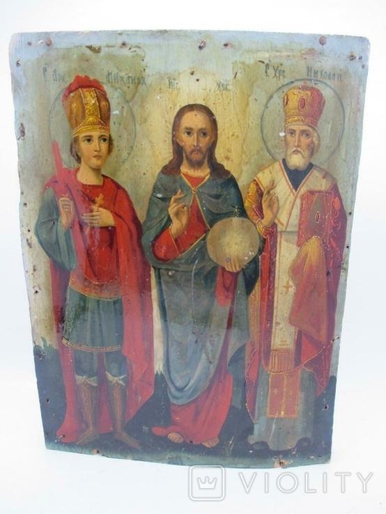 Редкая Икона трёх святых, фото №2