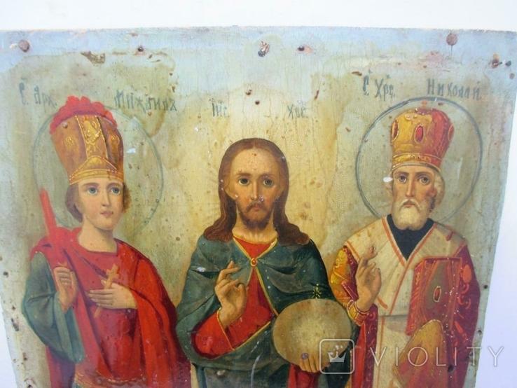 Редкая Икона трёх святых, фото №6