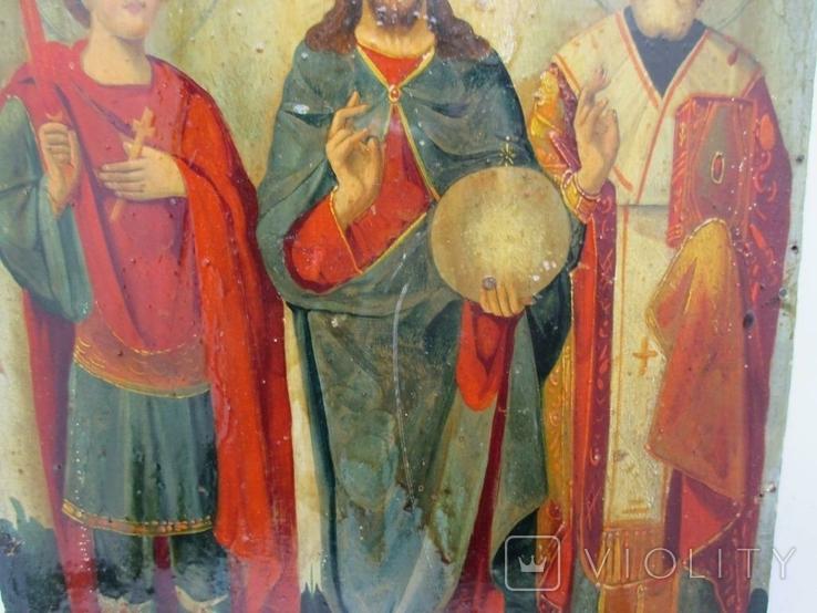 Редкая Икона трёх святых, фото №7