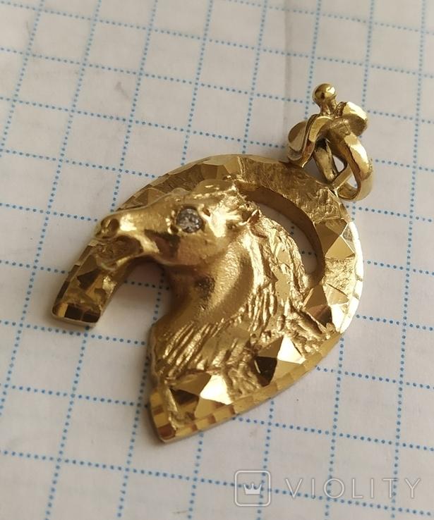 Кулон в виде коня 9.55гр 800+, фото №4