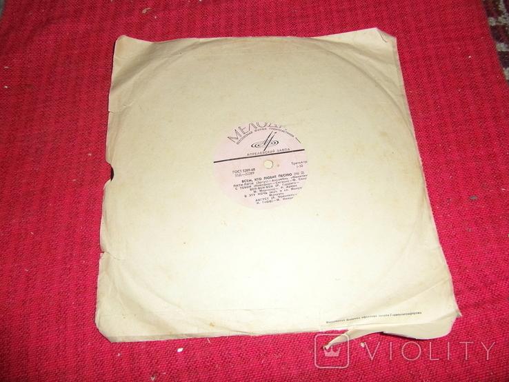 Виниловая пластинка из СССР.№28, фото №4