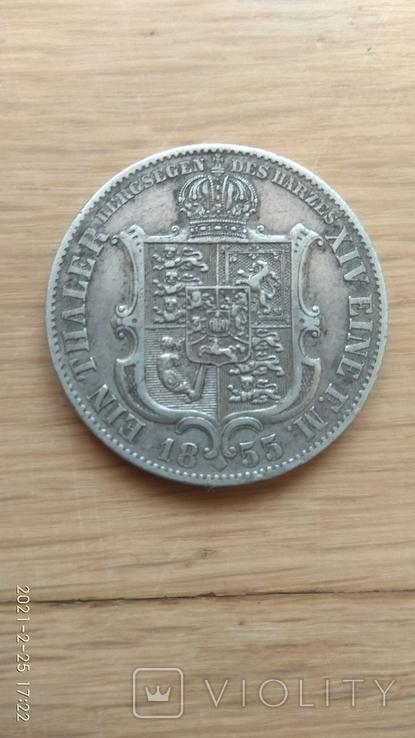 1 талер 1855 р., фото №3