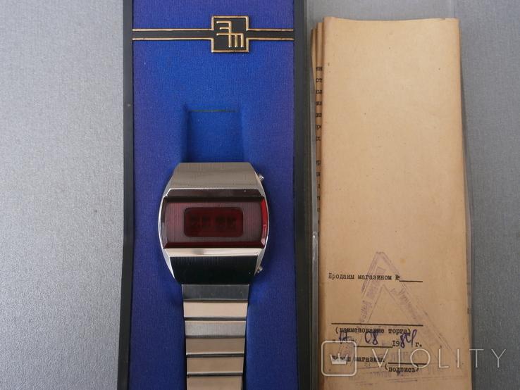 Часы Электроника -1 Пульсар Паспорт коробка, фото №2