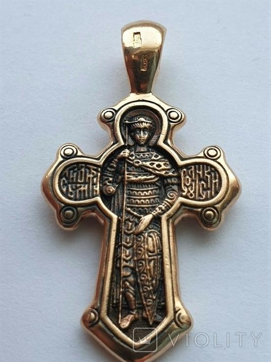 Золотой крестик 585 пробы, фото №3