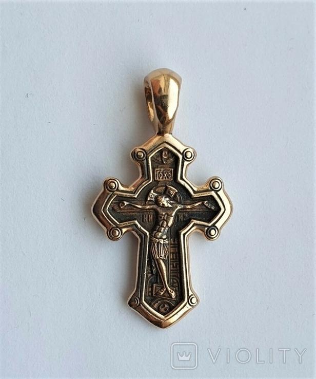Золотой крестик 585 пробы, фото №4