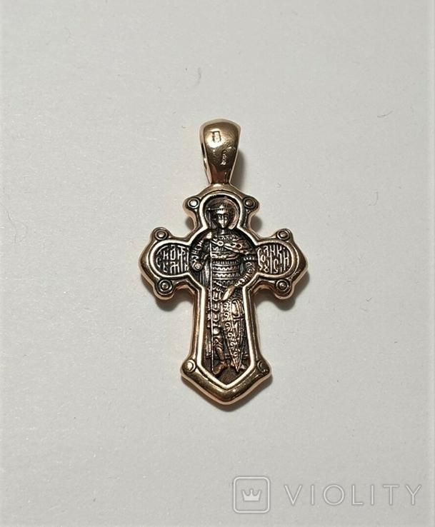 Золотой крестик 585 пробы, фото №7