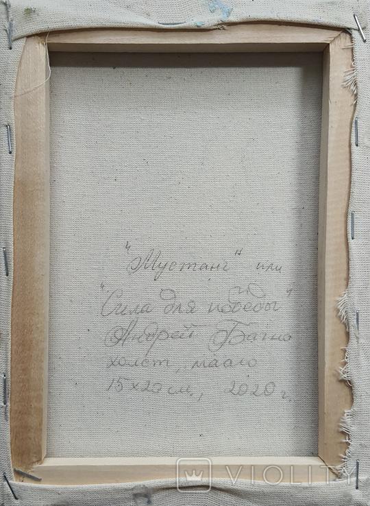 Картина, Мустанг, 15х20 см. Живопись на холсте, фото №7