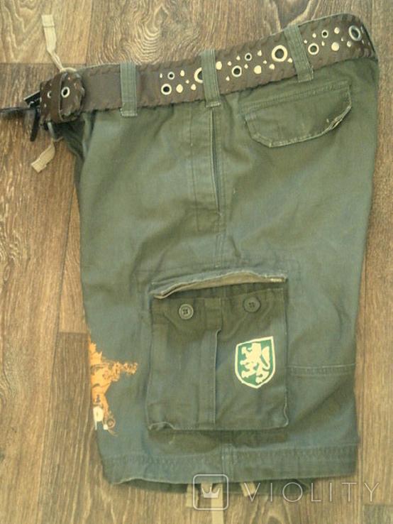 Sabotage semper unique - плотные шорты с ремнем, фото №4