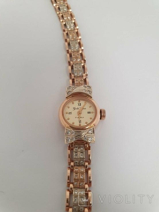 Золотые часы Gold Line 17 Jewels 585 проба, фото №2
