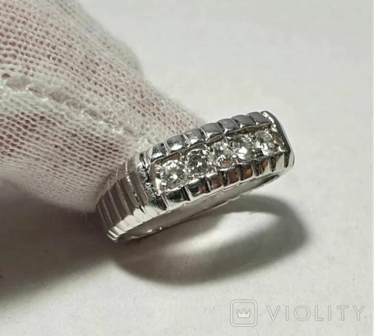 Золотое кольцо 14к 585 с бриллиантами