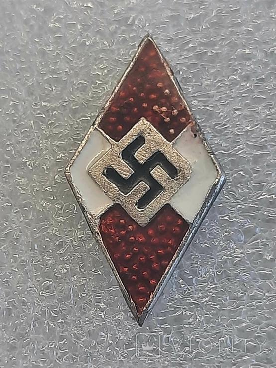 Гитлерюгент знак-накладка. 3 Рейх Германия. Копия, фото №4