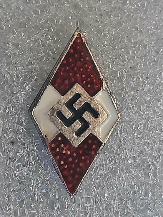 Гитлерюгент знак-накладка. 3 Рейх Германия. Копия, фото №5