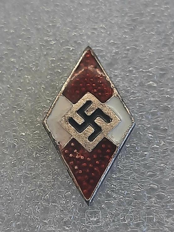 Гитлерюгент знак-накладка. 3 Рейх Германия. Копия, фото №6