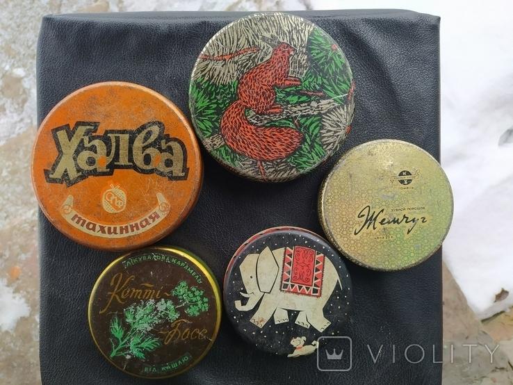 Коробки СССР из жести. 5 штук., фото №2