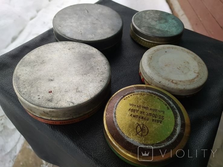 Коробки СССР из жести. 5 штук., фото №6