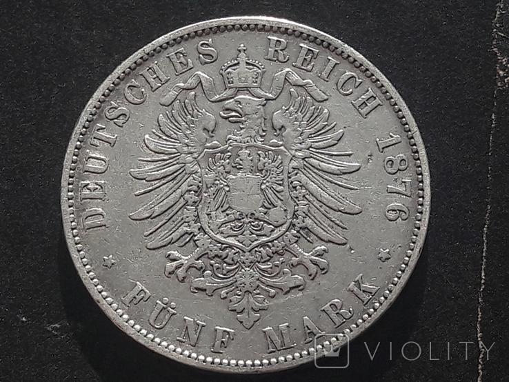 5 марок 1876 года АЛЬБЕРТ, фото №3