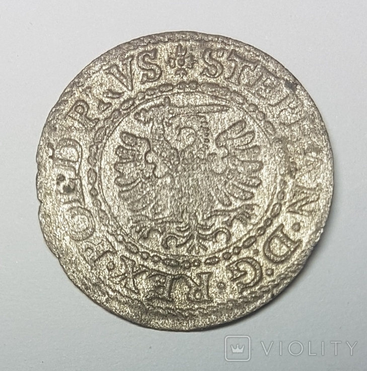 Грош Стефан Баторий 1594 г. (Гданьск), фото №2