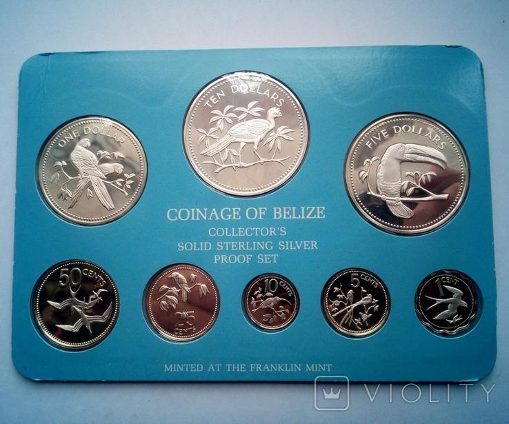 Белиз годовой набор 1975 года - серебро 925 пр. ПРУФ, фото №3