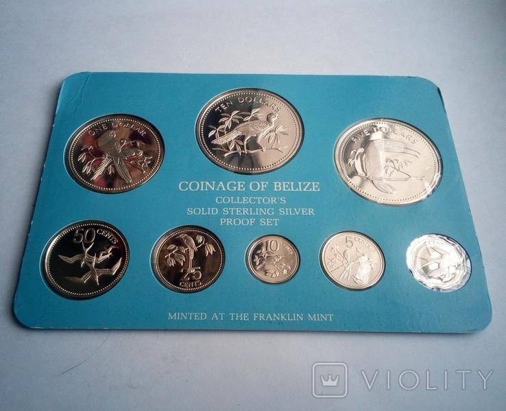 Белиз годовой набор 1975 года - серебро 925 пр. ПРУФ, фото №4